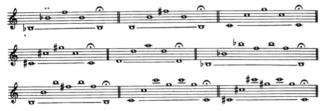 einfache Obertonuebung,S.Rascher S.12